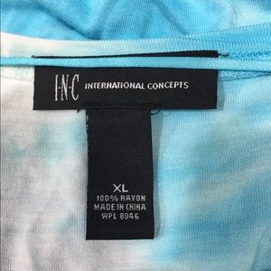 INC International Concepts Tops - INC InternationalConcepts XL TurquoiseGrey TieDye